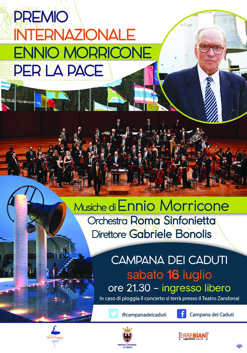 Locandina Premio internazionale Ennio Morricone
